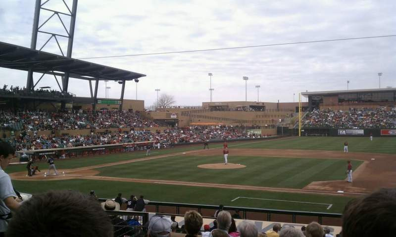 Seating view for Salt River Fields Section 206 Row 7 Seat 9