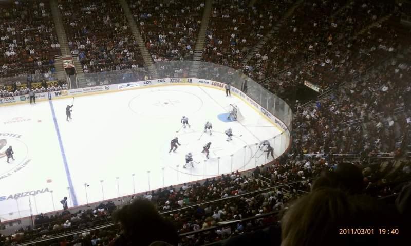 Seating view for Gila River Arena Section 215 Row D Seat 11