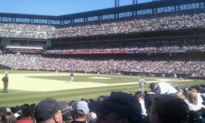 Seating view for Coors Field Section 142 Row 11 Seat 14