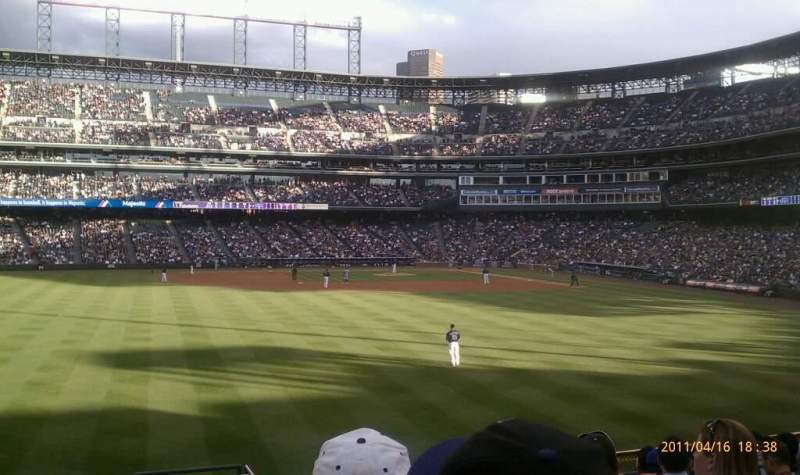 Seating view for Coors Field Section 155 Row 12 Seat 2