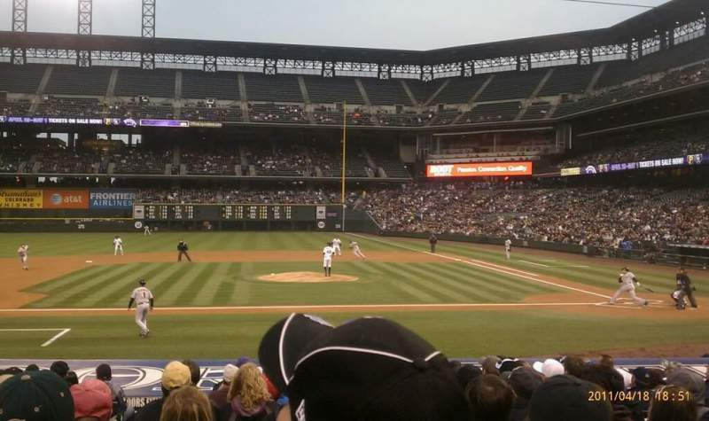 Seating view for Coors Field Section 137 Row 17 Seat 10