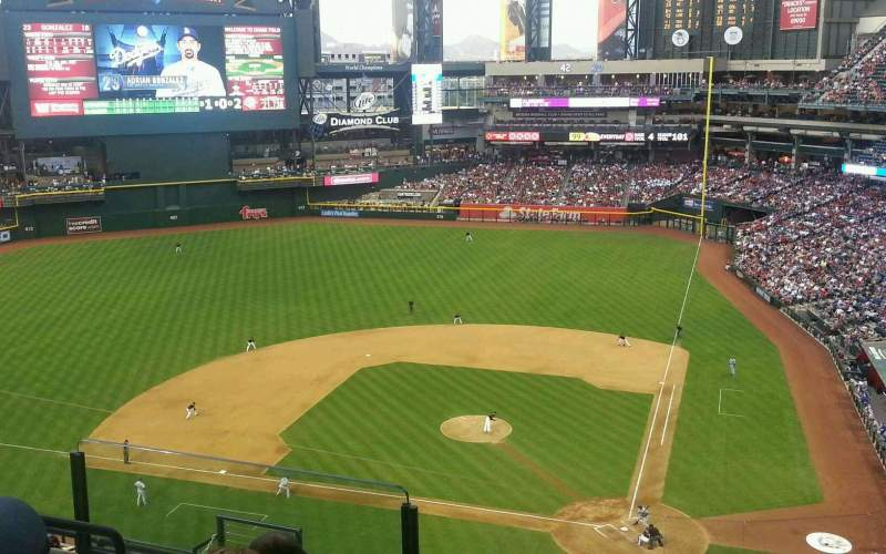 Seating view for Chase Field Section 319 Row 12 Seat 18