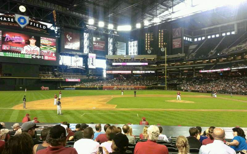 Seating view for Chase Field Section O Row 15 Seat 6