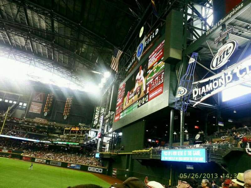 Seating view for Chase Field Section 103 Row 20 Seat 5