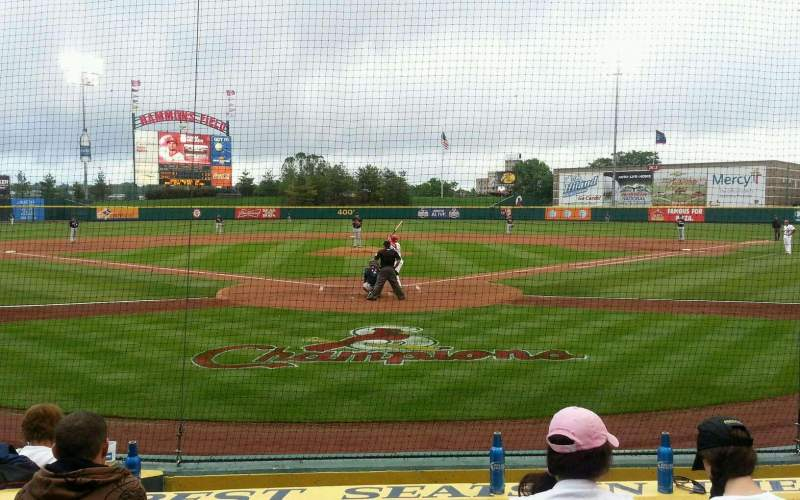 Seating view for Hammons Field Section H Row 6 Seat 10