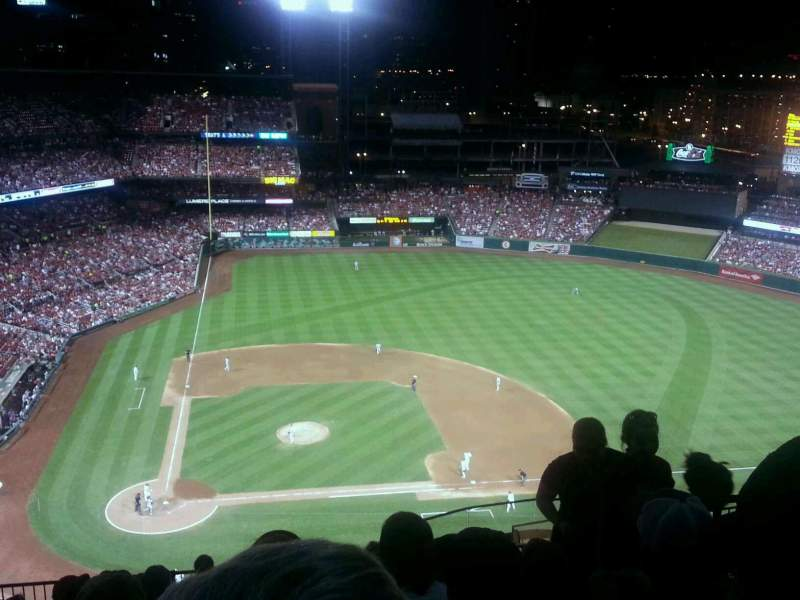 Seating view for Busch Stadium Section 446 Row 10 Seat 19