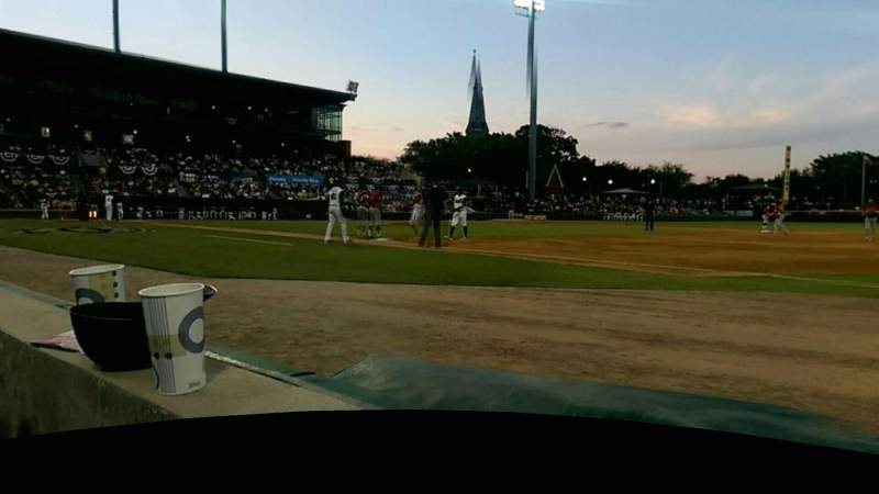 Seating view for Baseball Grounds of Jacksonville Section 115 Row 1 Seat 8
