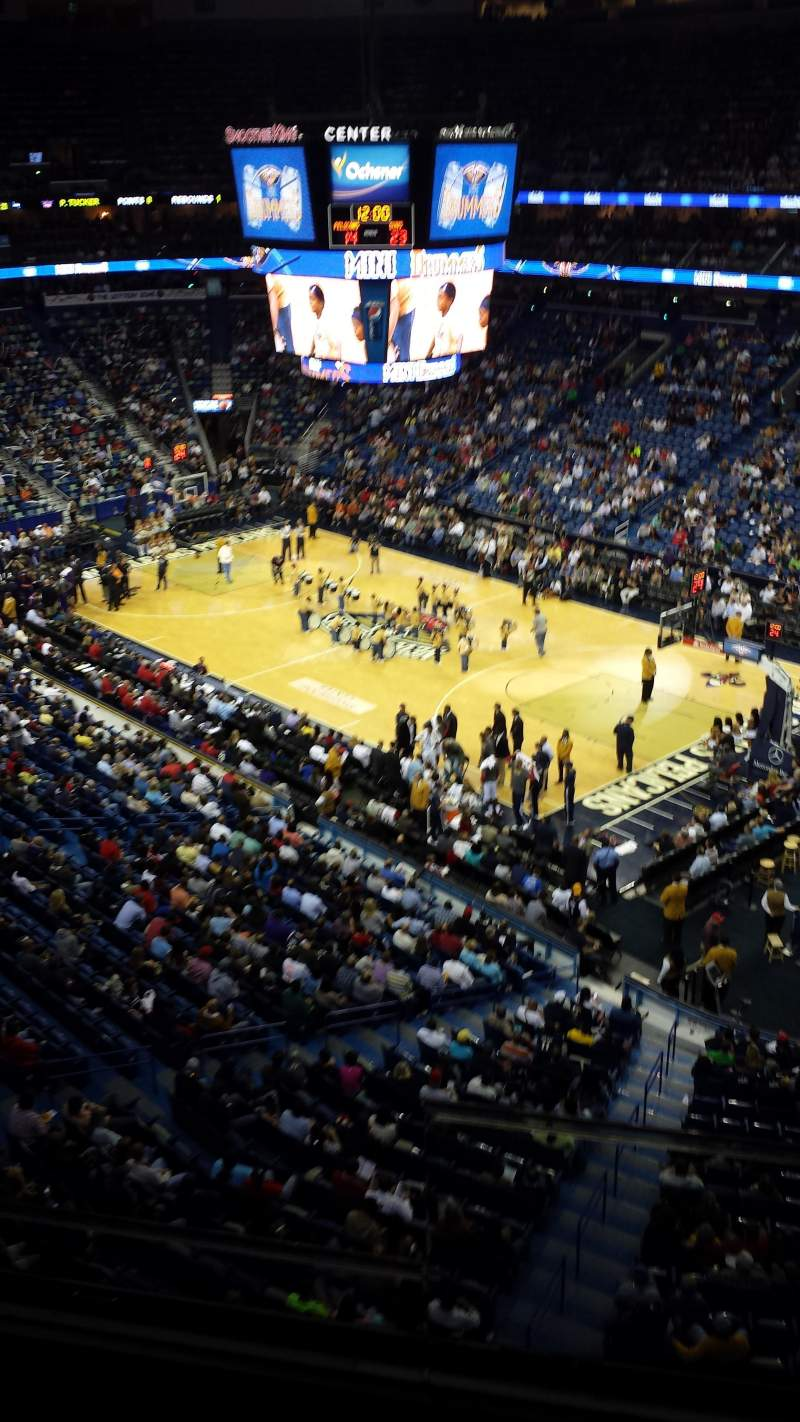 Seating view for Smoothie King Center Section 313 Row 2 Seat 2
