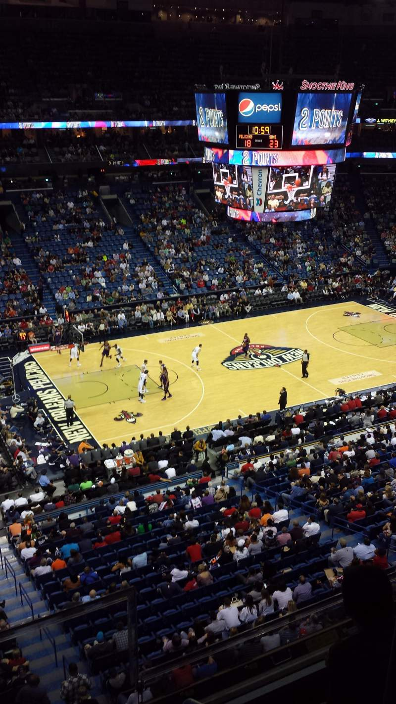 Seating view for Smoothie King Center Section 319 Row 2 Seat 2