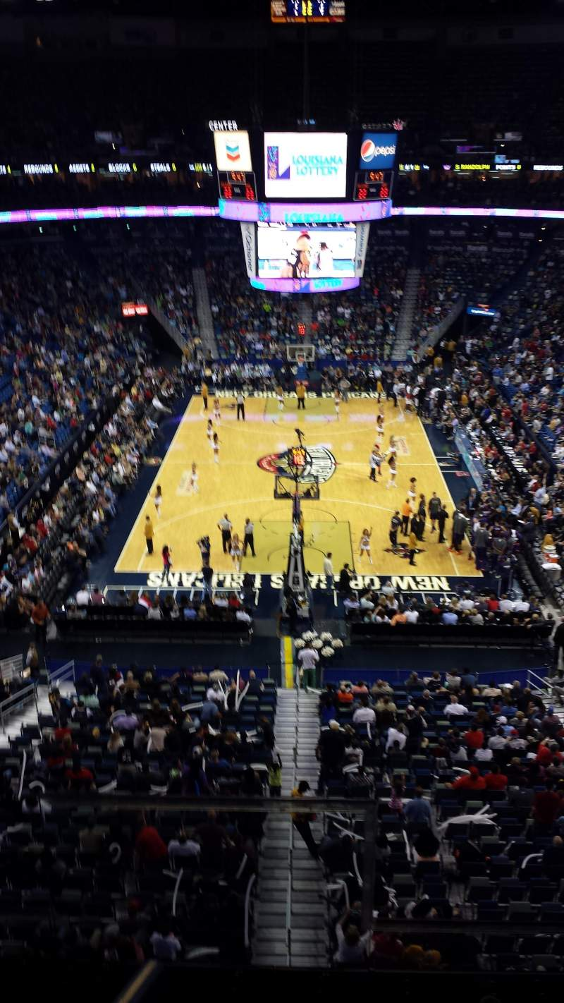 Smoothie King Center, section: 325, row: 2, seat: 2