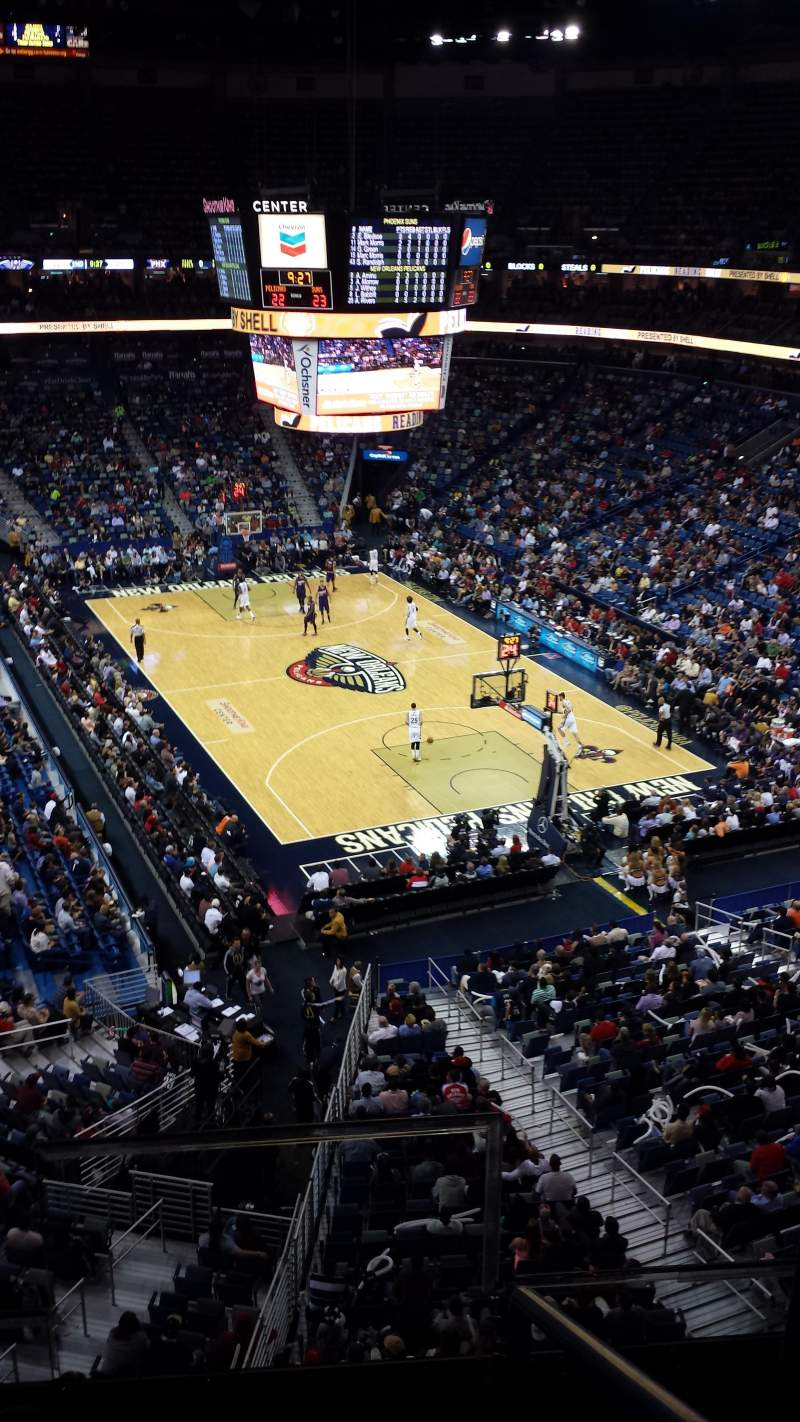 Smoothie King Center, section: 327, row: 2, seat: 2