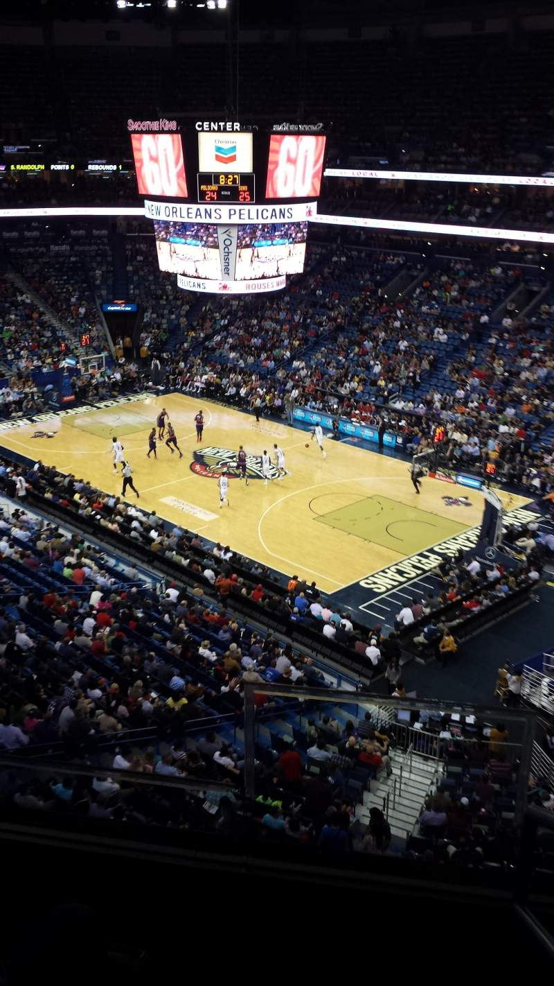 Seating view for Smoothie King Center Section 329 Row 2 Seat 2