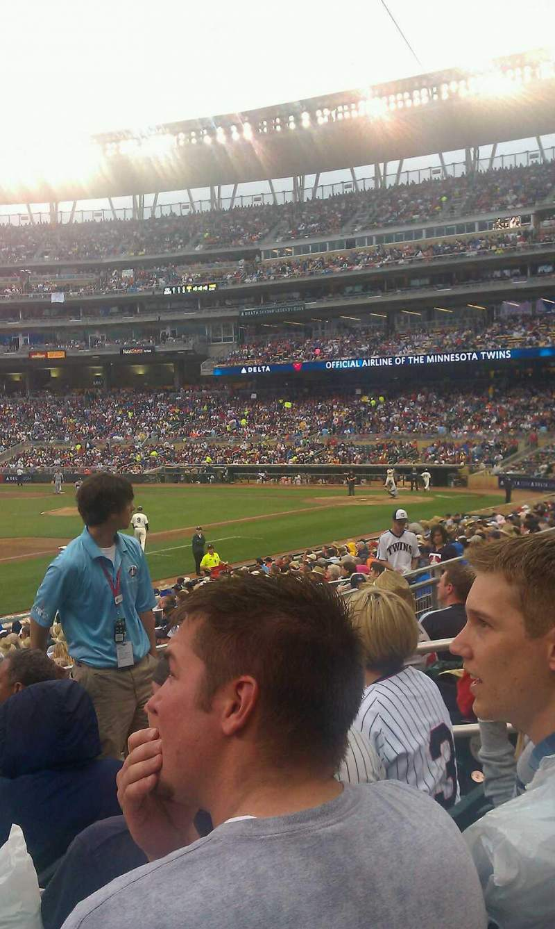 Seating view for Target Field Section 123 Row 4 Seat 6