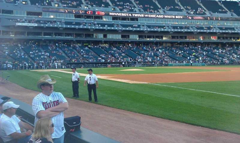 Seating view for U.S. Cellular Field Section 118 Row 2 Seat 1-2