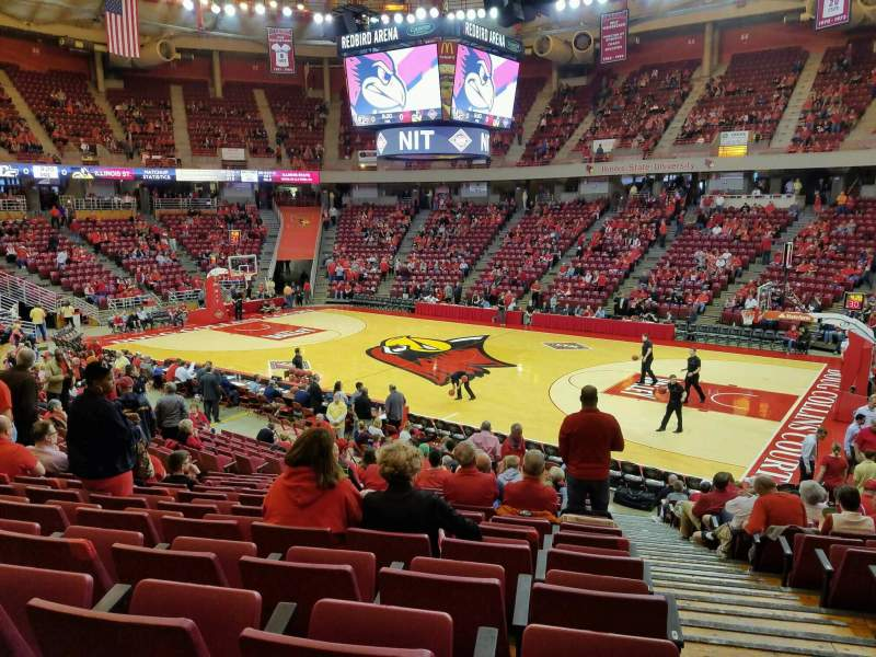 Seating view for Redbird Arena Section K Row 17 Seat 1