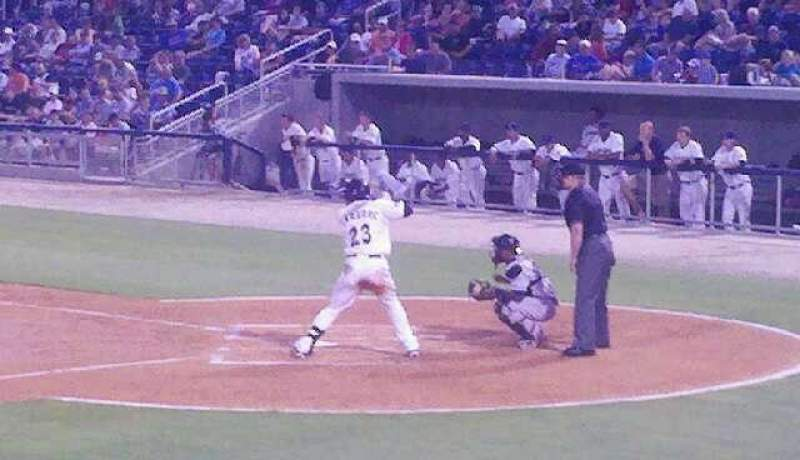 Seating view for Blue Wahoos Stadium Section 105 Row M Seat 21