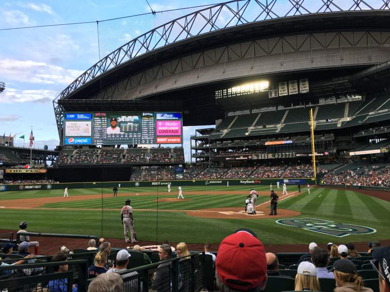 Seating view for Safeco Field Section 132 Row 11 Seat 1