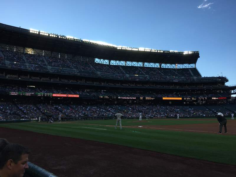 Seating view for Safeco Field Section 119 Row 2 Seat 1