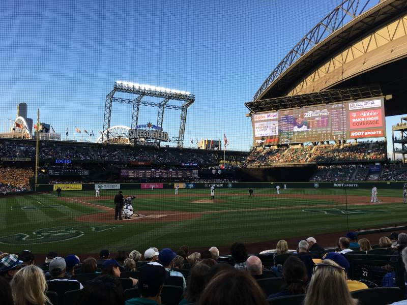 Seating view for T-Mobile Park Section 127 Row 9 Seat 4