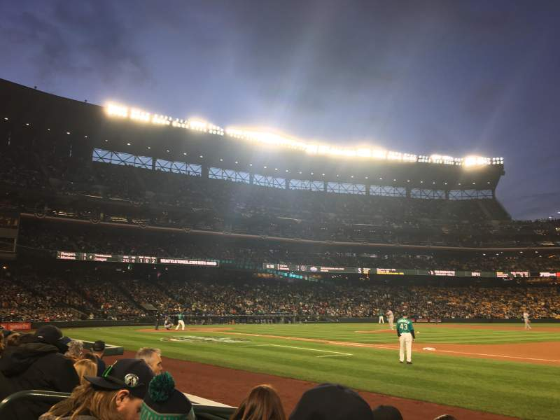 Seating view for T-Mobile Park Section 119 Row 4 Seat 8