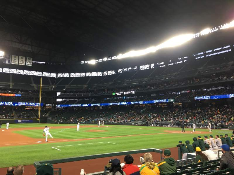 Seating view for T-Mobile Park Section 140 Row 9 Seat 2