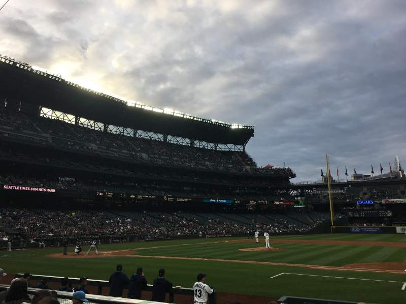 Seating view for T-Mobile Park Section 121 Row 10 Seat 8