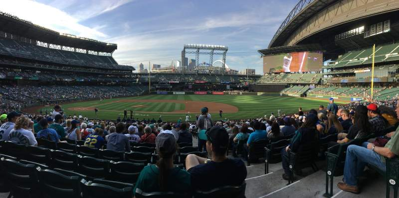 Seating view for T-Mobile Park Section 122 Row 31 Seat 1