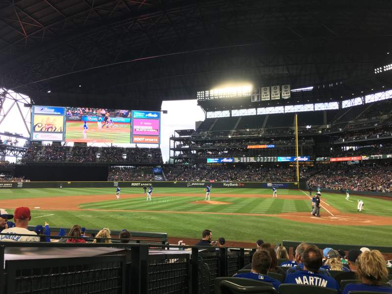 Seating view for T-Mobile Park Section 135 Row 12 Seat 9