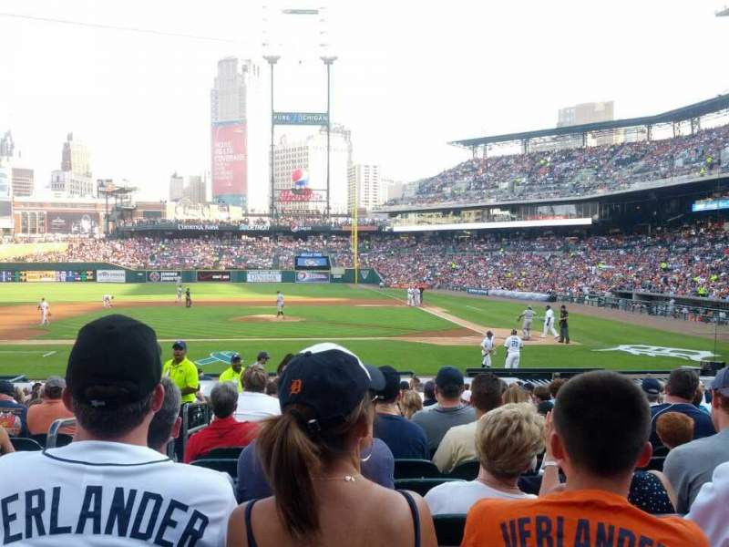 Seating view for Comerica Park Section 132 Row 25 Seat 15