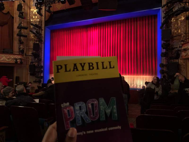 Seating view for Longacre Theatre Section Orchestra R Row O Seat 3