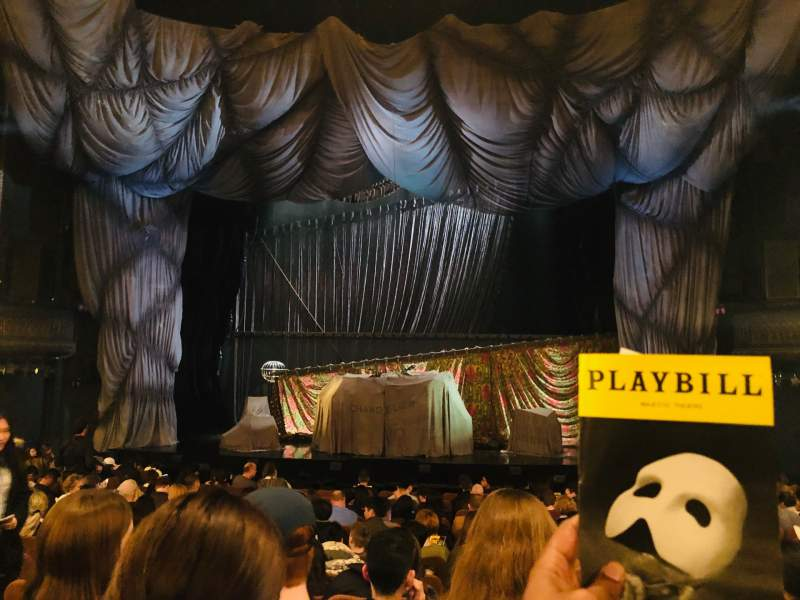 Seating view for Majestic Theatre Section Orchestra C Row M Seat 111