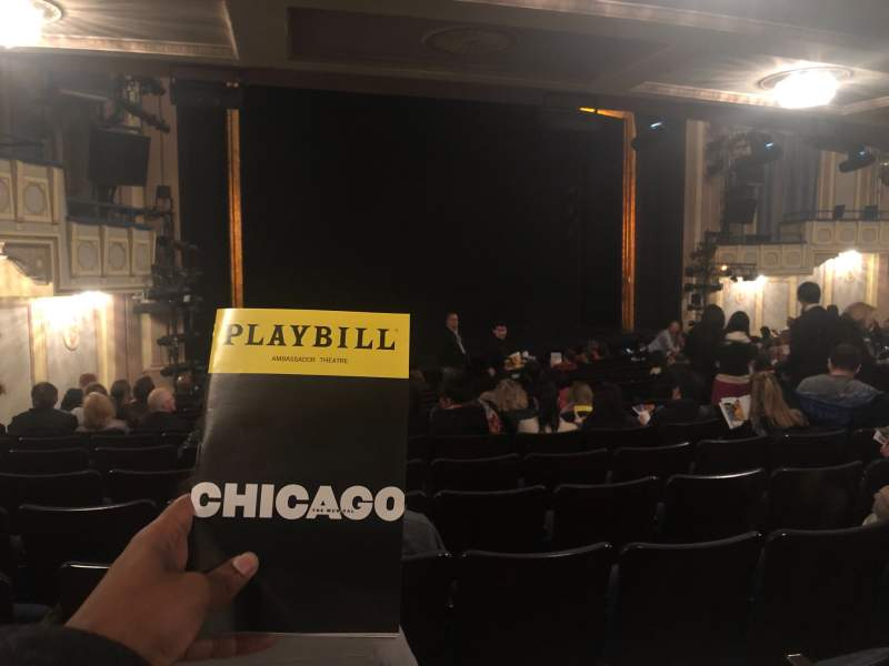 Seating view for Ambassador Theatre Section Orchestra L Row Standing Room Seat 17