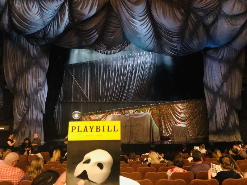 Seating view for Majestic Theatre Section Orchestra C Row J Seat 104