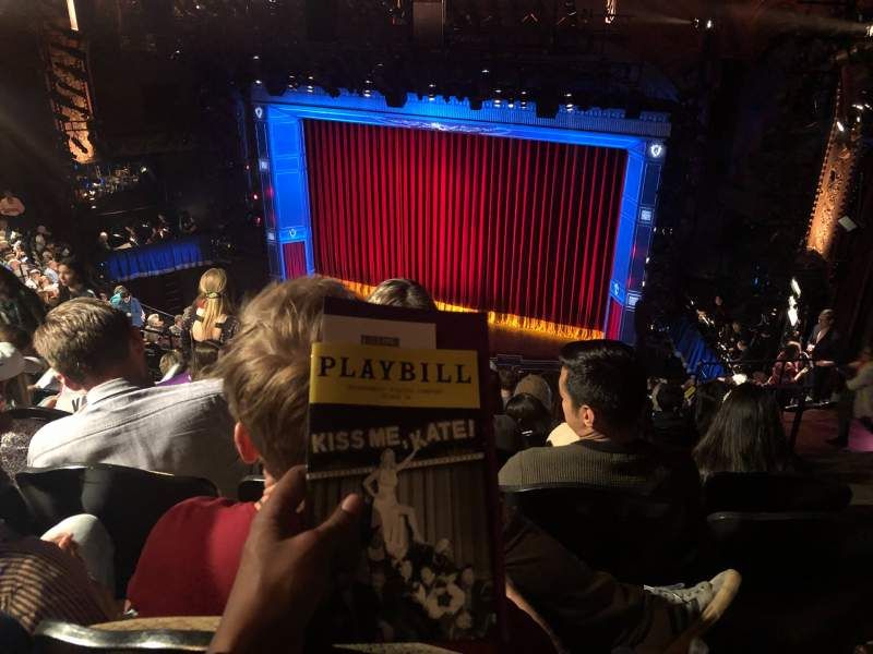 Seating view for Studio 54 Section Rear Mezzanine Row NN Seat 122