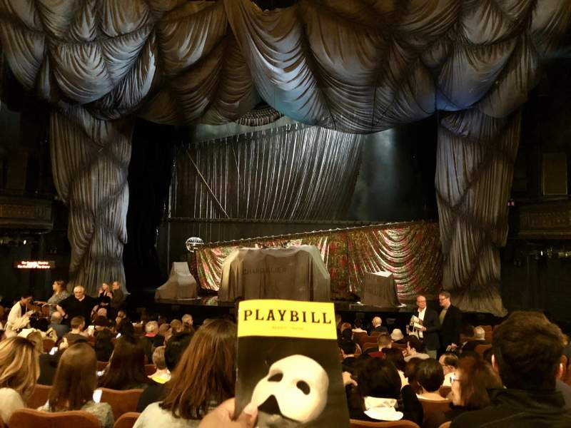 Seating view for Majestic Theatre Section Orchestra C Row M Seat 112