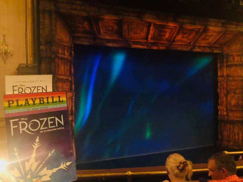 Seating view for St. James Theatre Section Mezzanine L Row C Seat 7