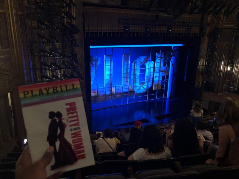 Seating view for Nederlander Theatre Section Mezzanine L Row L Seat 27