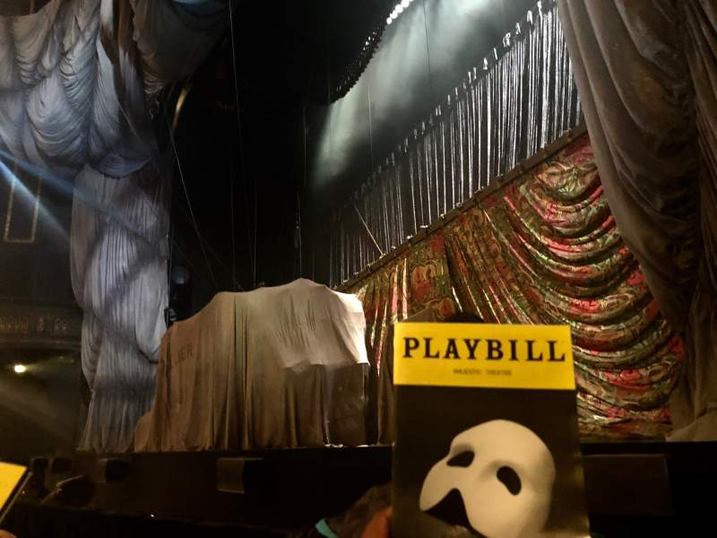 Seating view for Majestic Theatre Section Orchestra R Row BB Seat 14