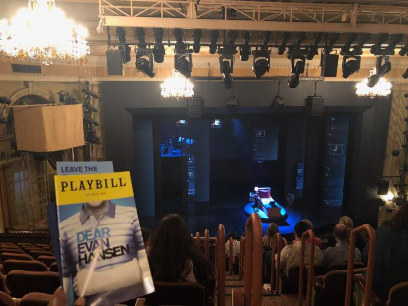 Seating view for Music Box Theatre Section Mezzanine L Row L Seat 1