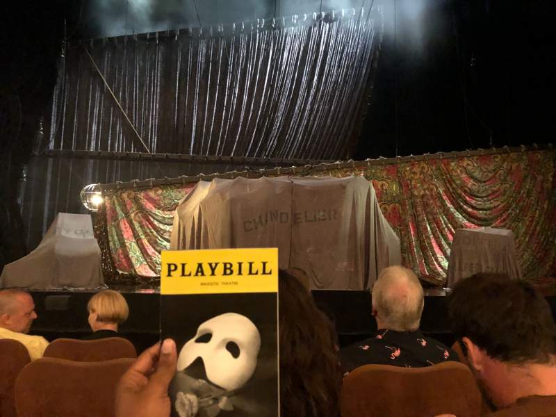 Seating view for Majestic Theatre Section Orchestra C Row C Seat 106