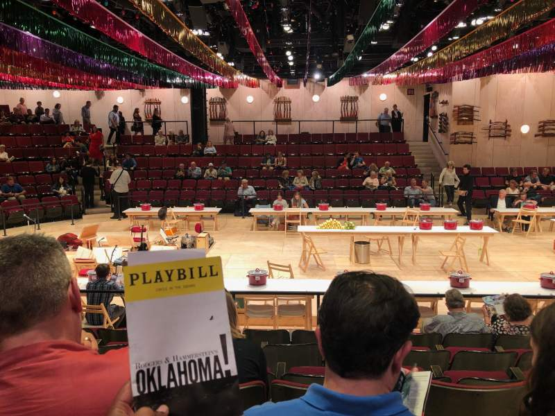 Seating view for Circle in the Square Theatre Section Orchestra 200 (Even) Row G Seat 232