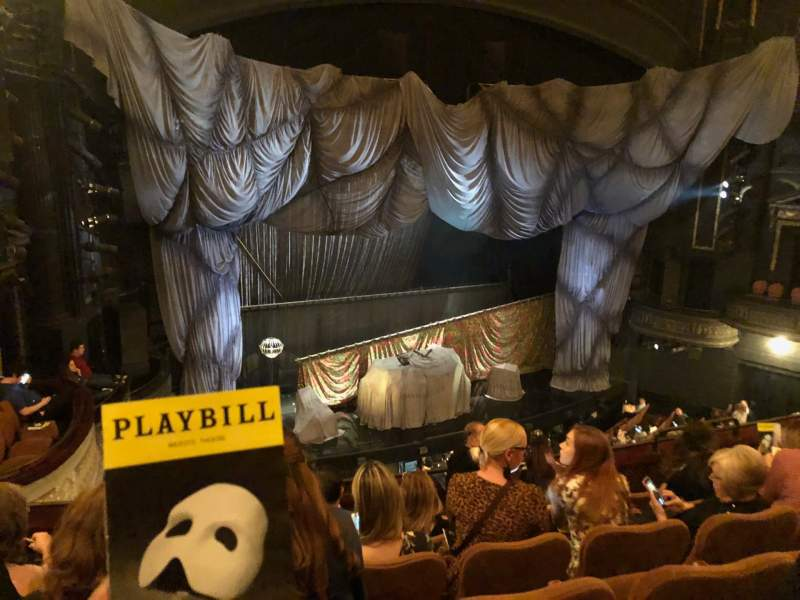 Seating view for Majestic Theatre Section Front Mezzanine L Row F Seat 17