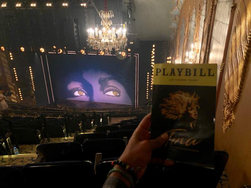 Seating view for Lunt-Fontanne Theatre Section Rear Mezzanine R Row L Seat 8