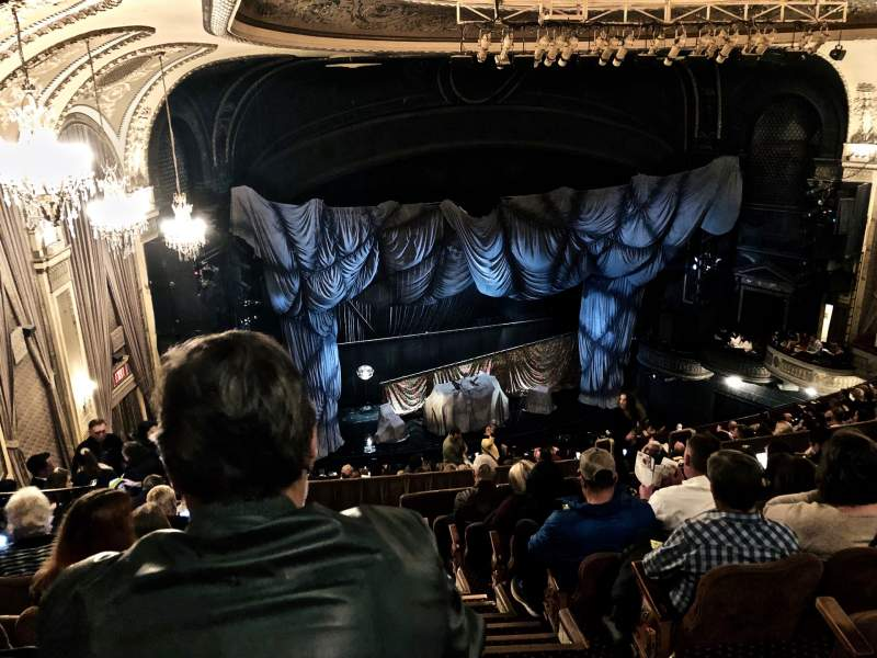 Seating view for Majestic Theatre Section Rear Mezzanine L Row H Seat 1