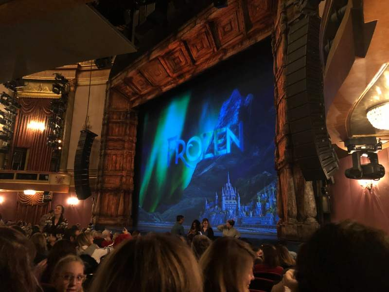 Seating view for St. James Theatre Section Orchestra R Row L Seat 30