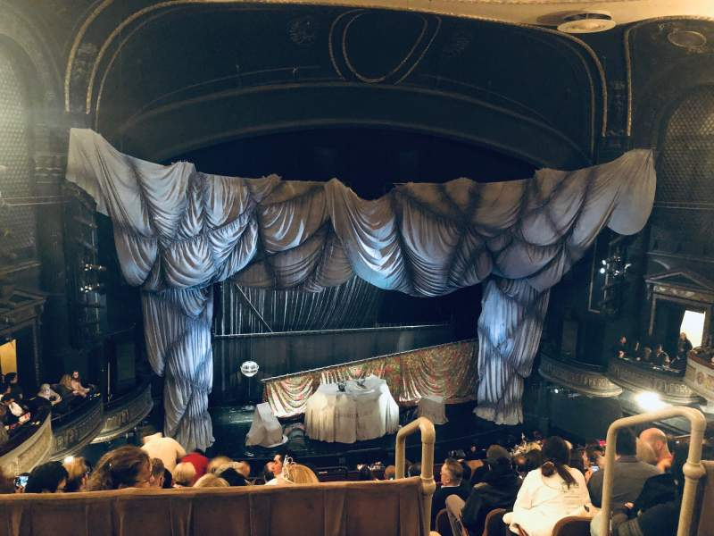 Seating view for Majestic Theatre Section Rear Mezzanine LC Row A Seat 119