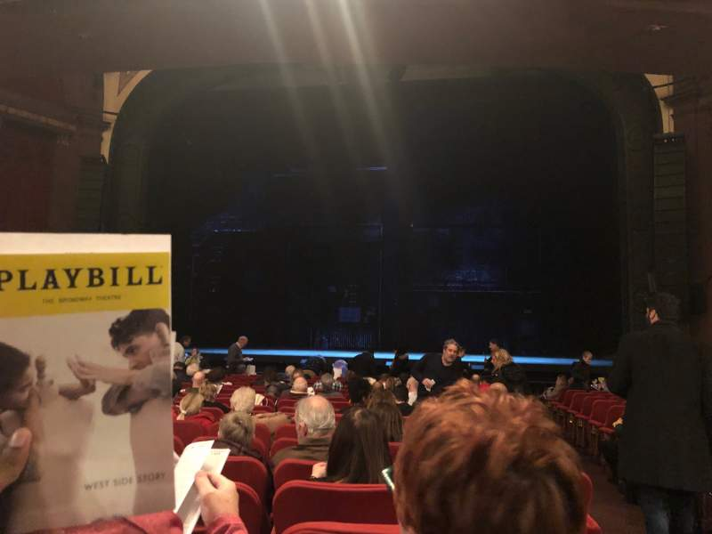 Seating view for Broadway Theatre - 53rd Street Section Orchestra C Row R Seat 101