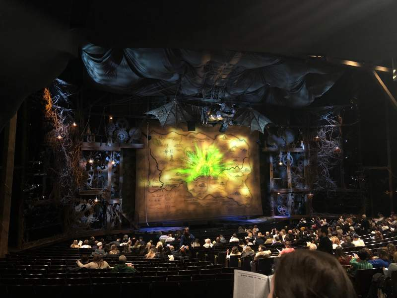 Seating view for Gershwin Theatre Section Orchestra L Row V Seat 17