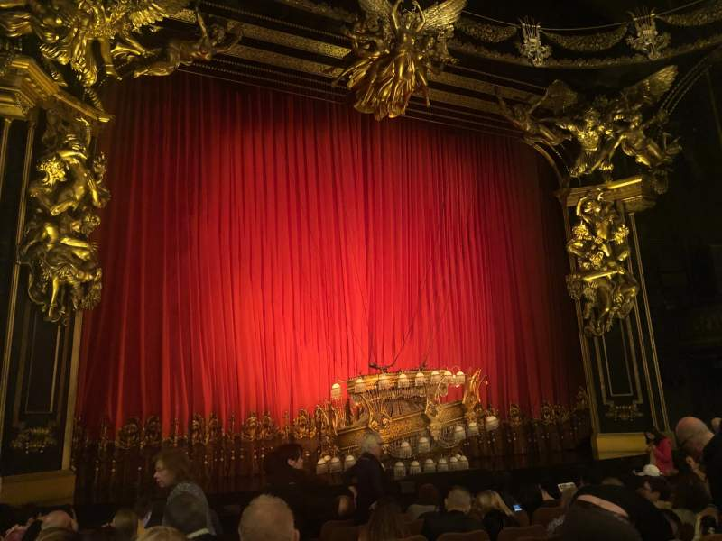 Seating view for Majestic Theatre Section Orchestra L Row H Seat 3