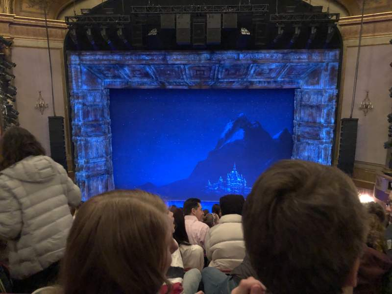 Seating view for St. James Theatre Section Mezzanine C Row K Seat 106